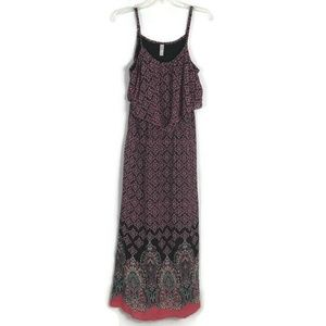 Xhilaration Dress Size  Large Brown Coral Maxi